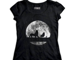 Camiseta Feminina King Lion Night cod3024