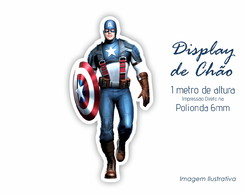 Display de Chão 1m de Altura do Capitão America