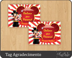 Tag Agradecimento - Circo do Mickey