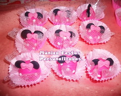 Trufas Decoradas Minnie Rosa.