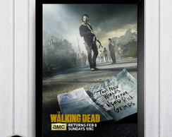 Quadro 21X30cm - The Walking Dead - Séries