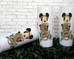 Copo Long Drink Mickey Safari Frente e Verso