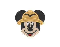 Patch Bordado Termocolante Rosto Mickey Safari - modelo2