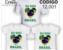 065afefc4a ... 03 camisetas Copa - 2 adultas + 1 inf. - Eu amo o Brasil