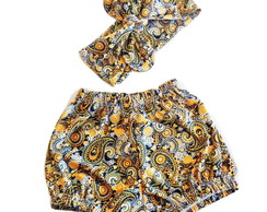 SHORTS COM TURBANTE
