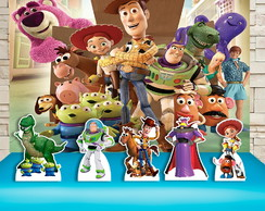 Kit Festa Prata Painel + Display Toy Story