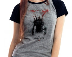 Camiseta The Witcher 3 Raglan Mescla Babylook