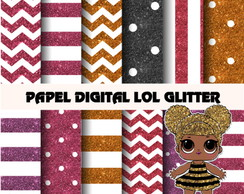 Papel Digital LOL Glitter