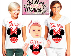 Kit 3 Camiseta Minnie Mouse.