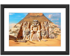 Quadro Iron Maiden Powerslave Banda Rock Piramides Egito Art