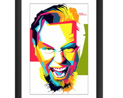 Quadro Metallica James Hetfield Pop Arte Rock Metal Musica
