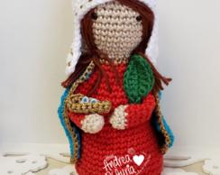 Santa Luzia Em Croche Amigurumi - R$ 64,49 em Mercado Livre | 194x244