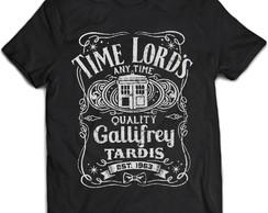 7dc3b1b39a946 Camiseta Série Doctor Who Time Lord's Preta 02 no Elo7 | RedHero (C65154)