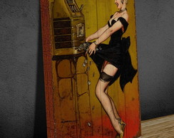 Tela Vintage GRANDE 40x60 Pin Up Slot
