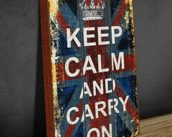 Tela Vintage GRANDE 40x60 Keep Calm Flag