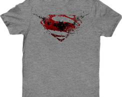 Camiseta Filme Batman vs Superman Cinza 01