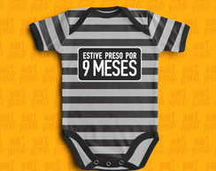 BODY BEBE DIVERTIDO ESTIVE PRESO POR 9 MESES
