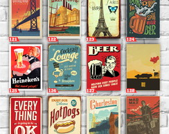 Placas decorativas Retro vintage bar buteco