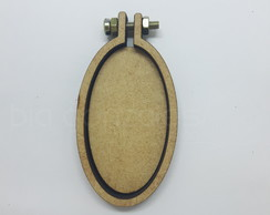 Kit de Mini bastidor oval 3,3x5,6cm