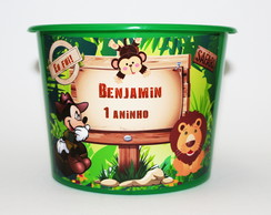 20 Balde Baldinhos Personalizados Safari do Mickey 1,5 L