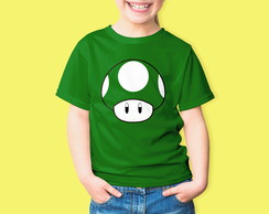 Camiseta Infantil Video Game Super Mario Bros 100%Algodão
