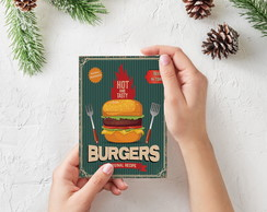 "Placa decorativa MDF ""Burgers"""