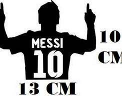 1b3b55f273 Adesivo Perfil Messi 10 Futebol Com Frete Grátis