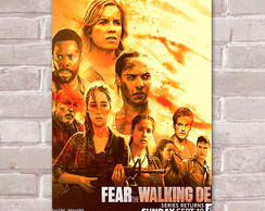 Placa Decorativa Fear The Walking Dead 10-30x20cm