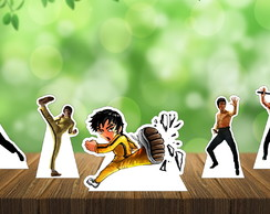 Display Totem Enfeite de Mesa Bruce Lee