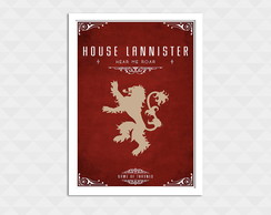 Quadro Decorativo Com Moldura - Game Of Thrones Lannister