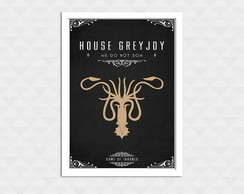 Quadro Decorativo Com Moldura - Game Of Thrones Greyjoy