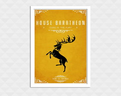 Quadro Decorativo Com Moldura - Game Of Thrones Baratheon