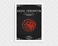 Quadro Decorativo Com Moldura - Game Of Thrones Targaryen