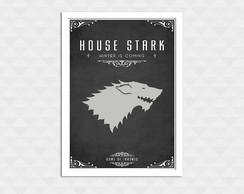 Quadro Decorativo Com Moldura - Game Of Thrones Stark