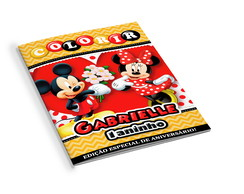 Revistinha de Colorir Mickey e Minnie