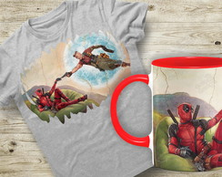 Kit Camiseta + Caneca DeadPool 2