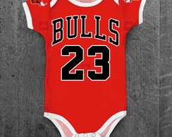 Body Chicago Bulls Basquete NBA com nome personalizado
