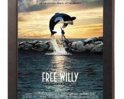Quadro Poster Com Moldura Filme Free Willy 1993
