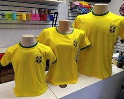 e16851b4d7 Camisa Camiseta Selecao Brasileira Brazil com Nome