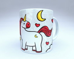 CANECA UNICORNIO LOVE IN THE MOON