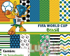 Kit Scrapbook Digital Copa do Mundo 2014