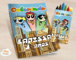 Kit colorir com giz de cera As Meninas Superpoderosas