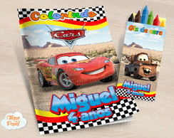 Kit colorir com giz de cera Carros