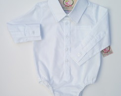 ... Body Camisa Branca Manga Longa b3cdf36cf5987