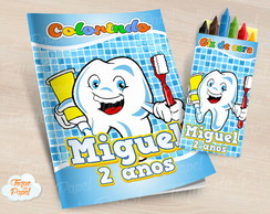 Kit colorir com giz de cera Dente