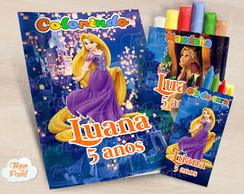 Kit colorir giz massinha Rapunzel