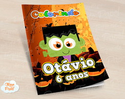 Revista colorir Halloween