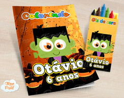 Kit colorir com giz de cera Halloween
