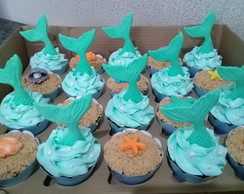 Cupcakes - Fundo do Mar & Sereia