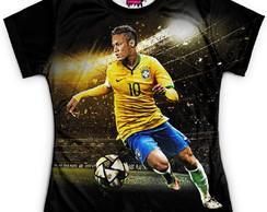 fff0b5972a ... Camiseta Baby Look Feminina Neymar Brasil Copa Md01